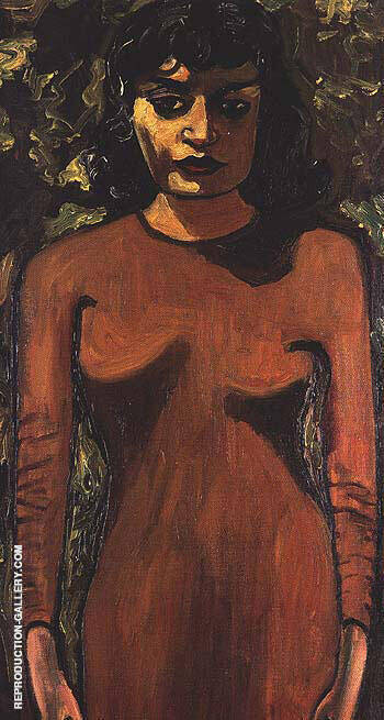 Dick Bagiey's Girlfriend 1946 Painting By Alice Neel