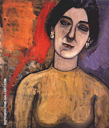 Dore Ashton 1952 By Alice Neel Replica Paintings on Canvas - Reproduction Gallery