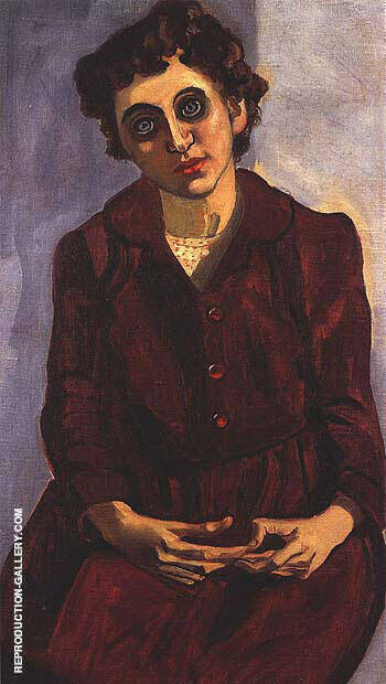 Mitzi Rosen 1952 By Alice Neel Replica Paintings on Canvas - Reproduction Gallery