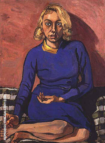 Reproduction of June 1955 by Alice Neel | Oil Painting Replica On CanvasReproduction Gallery