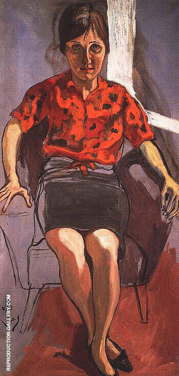Christy White 1958 Painting By Alice Neel - Reproduction Gallery