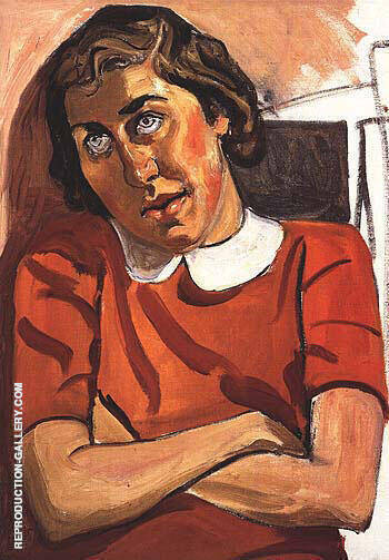 Religious Girl 1958 By Alice Neel Replica Paintings on Canvas - Reproduction Gallery