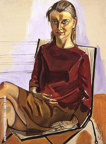 Monika 1968 Painting By Alice Neel - Reproduction Gallery