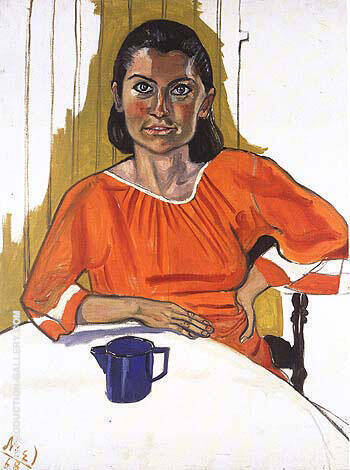 Leah 1968 Painting By Alice Neel - Reproduction Gallery