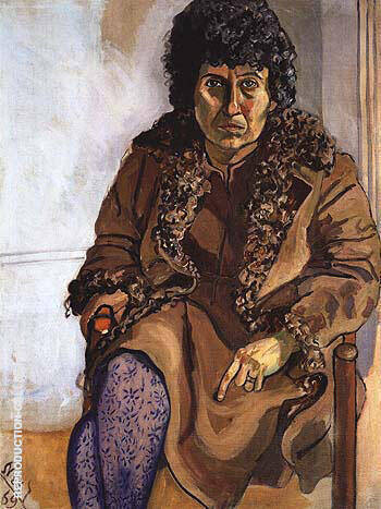 Dorothy Pearlstein 1969 By Alice Neel Replica Paintings on Canvas - Reproduction Gallery
