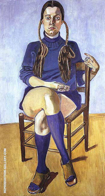 Vera Beckerhoff 1976 By Alice Neel Replica Paintings on Canvas - Reproduction Gallery