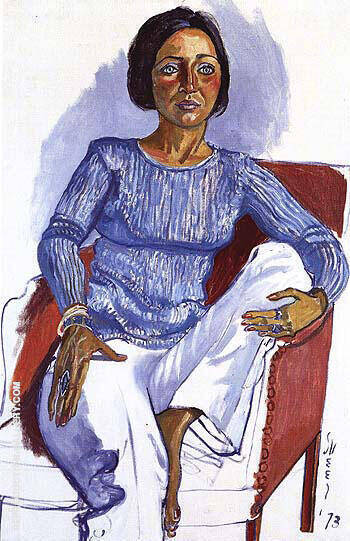 Dianne Vanderlip 1973 Painting By Alice Neel - Reproduction Gallery