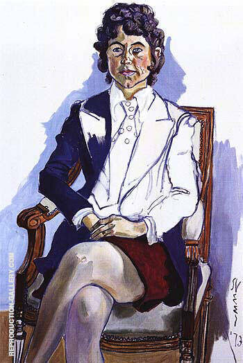 Reproduction of Diane Cochrane 1973 by Alice Neel | Oil Painting Replica On CanvasReproduction Gallery