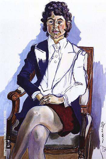Diane Cochrane 1973 By Alice Neel