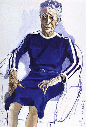 Isabel Bishop 1974 By Alice Neel Replica Paintings on Canvas - Reproduction Gallery