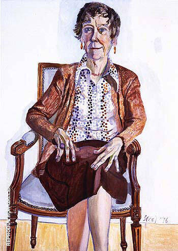 Ellen Johnson 1976 By Alice Neel Replica Paintings on Canvas - Reproduction Gallery