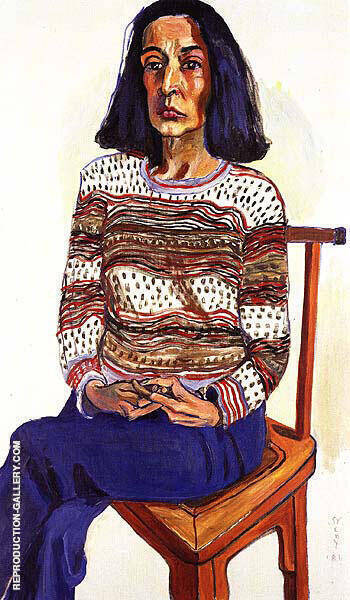 Marisol 1981 By Alice Neel Replica Paintings on Canvas - Reproduction Gallery