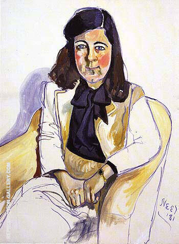 Reproduction of Marilyn Symmes 1981 by Alice Neel | Oil Painting Replica On CanvasReproduction Gallery