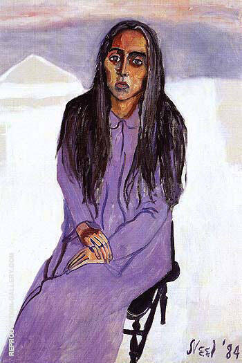 Ginny 1984 By Alice Neel Replica Paintings on Canvas - Reproduction Gallery