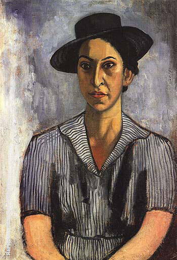 Woman With Blue Hat 1934 Painting By Alice Neel - Reproduction Gallery