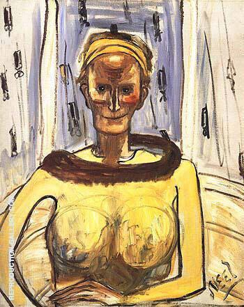 Ellie Poindexter 1962 By Alice Neel