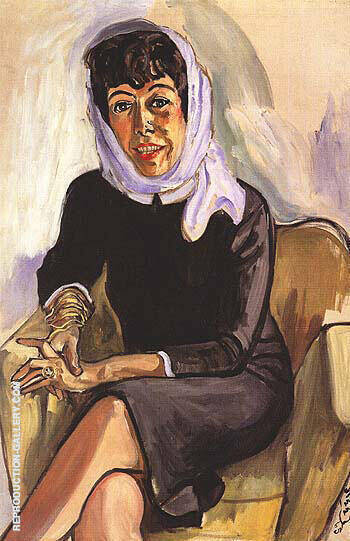 Vivienne Wechter 1965 By Alice Neel