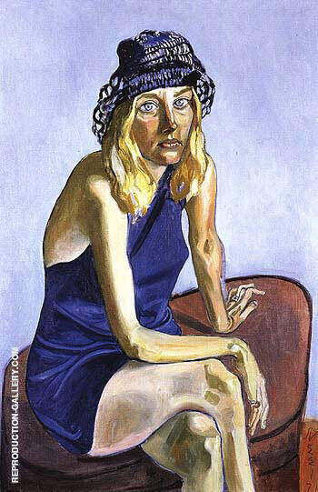 Louise Lieber 1971 Painting By Alice Neel - Reproduction Gallery