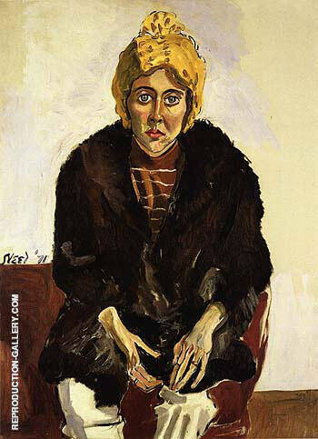 Ginny with Yellow Hat 1971 By Alice Neel
