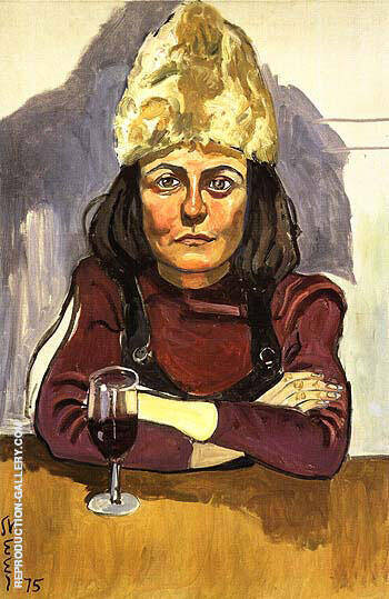 Woman in Cafe 1975 Painting By Alice Neel - Reproduction Gallery