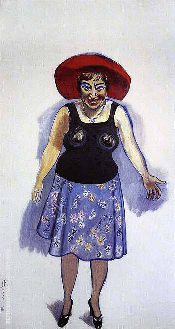 Bella Abzug 1976 By Alice Neel Replica Paintings on Canvas - Reproduction Gallery