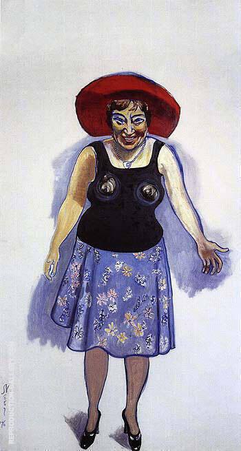 Bella Abzug 1976 By Alice Neel