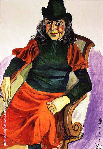 Vivien Leone 1983 Painting By Alice Neel - Reproduction Gallery