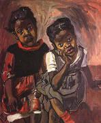Two Girls Spanish Harlem 1959 By Alice Neel