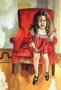 Clement Greenberg's Daughter 1967 By Alice Neel