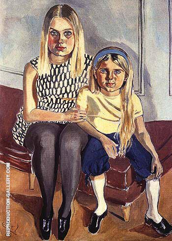 Swedish Girls 1968 Painting By Alice Neel - Reproduction Gallery