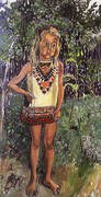 Olivia in an African Dress 1972 By Alice Neel