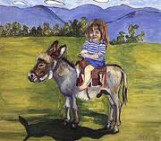 Elizabeth on the Donkey 1977 By Alice Neel