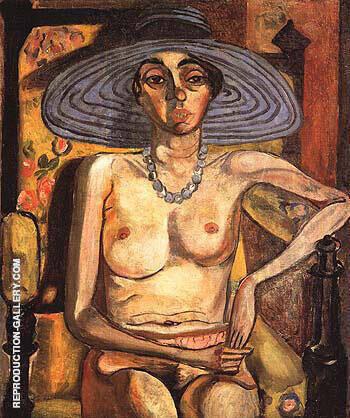 Rhoda Myers with Blue Hat 1930 By Alice Neel
