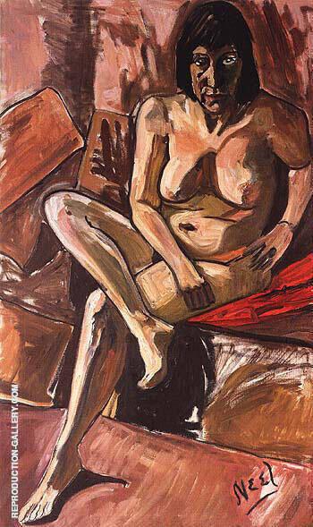 Lida Nude 1960 By Alice Neel