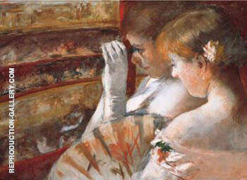 In the Box 1879 By Mary Cassatt Replica Paintings on Canvas - Reproduction Gallery