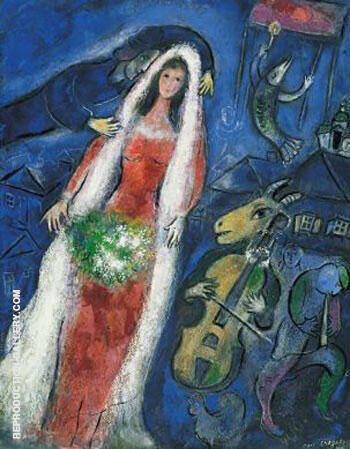 La Mariee Painting By Marc Chagall - Reproduction Gallery