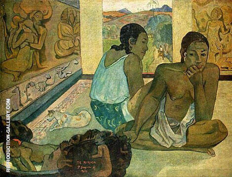 Te Rerioa 1897 The Dream Painting By Paul Gauguin - Reproduction Gallery