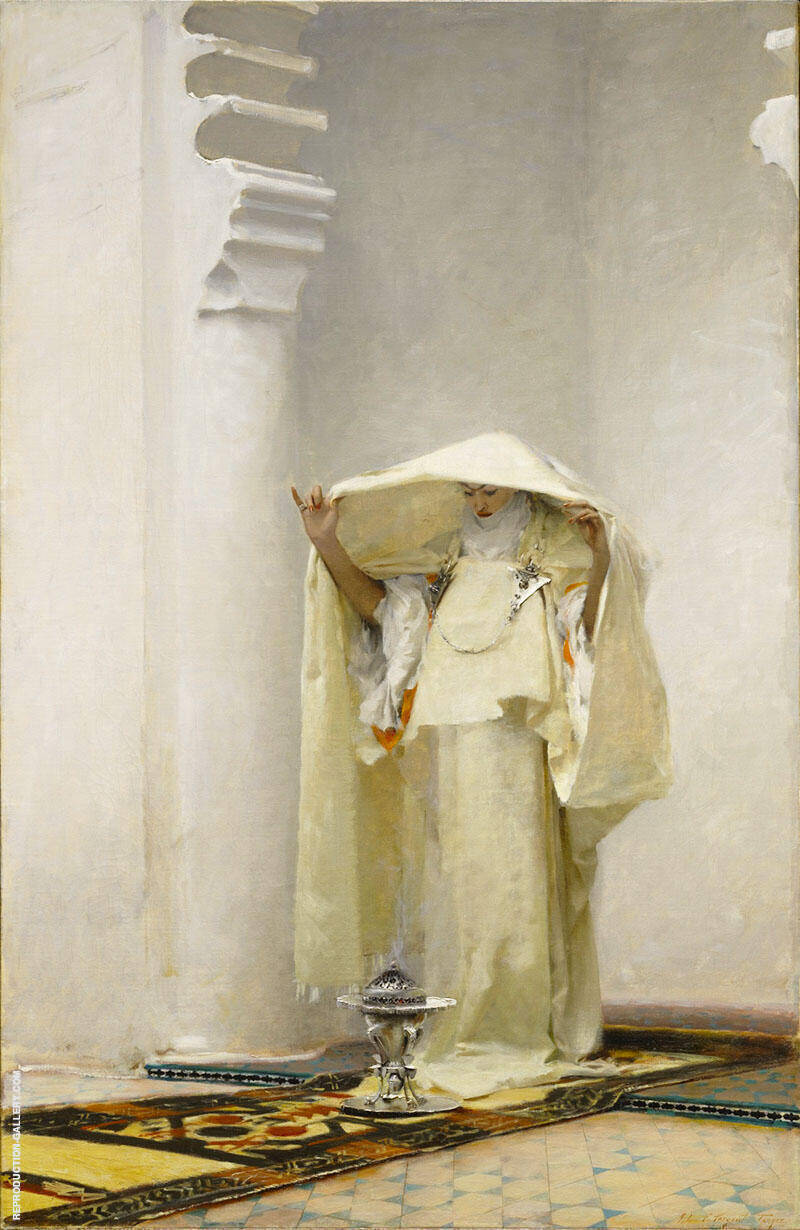 Fumee D'Ambre Gris 1880 By John Singer Sargent Replica Paintings on Canvas - Reproduction Gallery