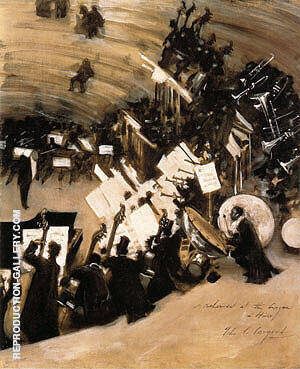Rehearsal of the Pasdeloup Orchestra at the Cirque D'Hiver 1879-80 Painting By ...