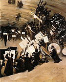 Rehearsal of the Pasdeloup Orchestra at the Cirque D'Hiver 1879-80 By John Singer Sargent