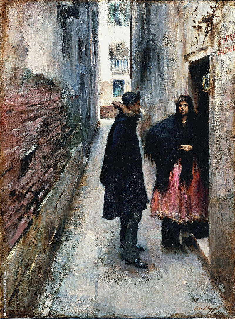 A Street in Venice 1880-82 Painting By John Singer Sargent