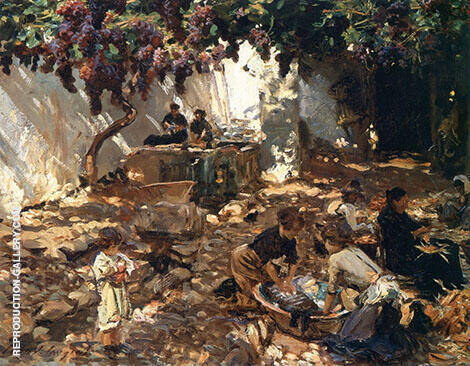 Women at Work 1910 Painting By John Singer Sargent - Reproduction Gallery