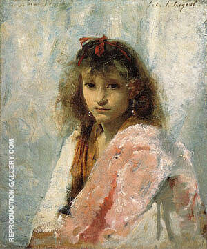Carmela Bertagna 1880 By John Singer Sargent Replica Paintings on Canvas - Reproduction Gallery
