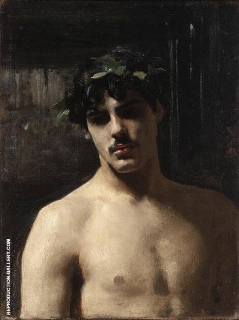 Man Wearing Laurels 1874-80 By John Singer Sargent