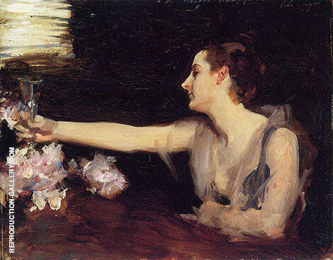 Madame Gautreau Drinking A Toast 1883 By John Singer Sargent - Oil Paintings & Art Reproductions - Reproduction Gallery