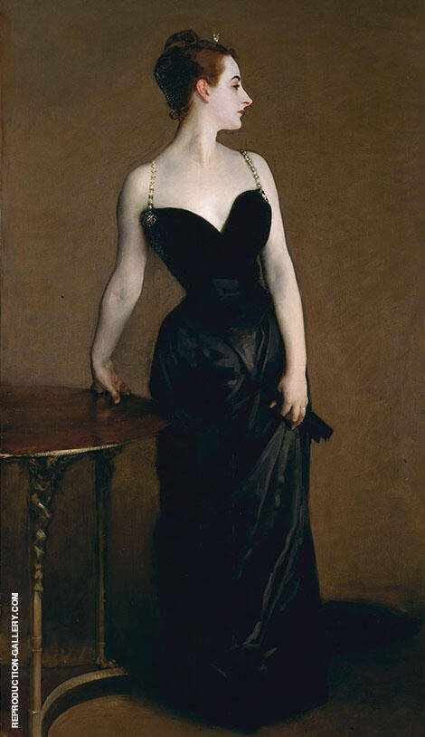Madame Pierre Gautreau 1884 Madam X By John Singer Sargent - Oil Paintings & Art Reproductions - Reproduction Gallery
