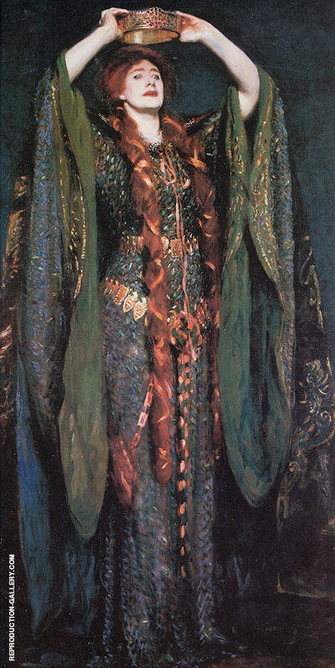 Ellen Terry as Lady Macbeth 1889 Painting By John Singer Sargent