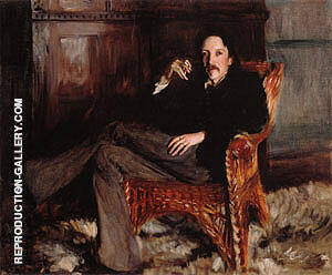 Robert Louis Stevenson 1887 By John Singer Sargent Replica Paintings on Canvas - Reproduction Gallery