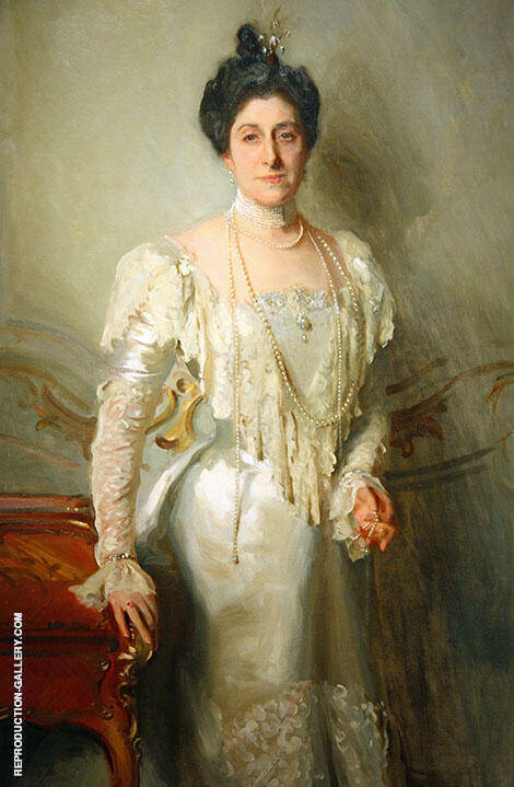 Reproduction of Portrait of Mrs Asher B Wertheimer 1898 by John Singer Sargent | Oil Painting Replica On CanvasReproduction Gallery