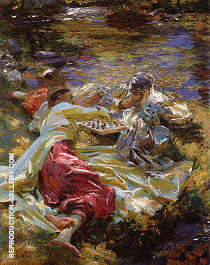 The Chess Game 1907 Painting By John Singer Sargent - Reproduction Gallery